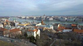 Vista superiore del centro di Budapest archivi video