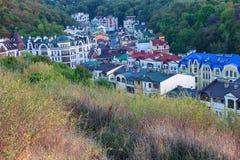 Vista superiore del centro storico di Kiev Fotografia Stock