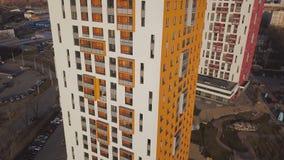 Vista superiore del complesso residenziale colorato clip Belle case alla moda dei colori differenti in un lusso residenziale Fotografia Stock