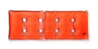Vista superiore del cuscinetto di riscaldamento dell'acetato di auto rosso immagini stock libere da diritti