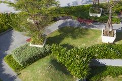 Vista superiore del giardino della cima del tetto Fotografie Stock Libere da Diritti