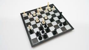 Vista superiore del gioco di scacchi archivi video