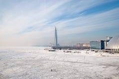 Vista superiore del golfo di Finlandia St Petersburg La Russia Immagini Stock Libere da Diritti