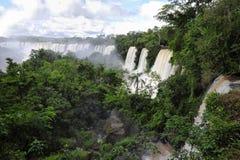 Vista superiore del Iguazu Falls Immagini Stock