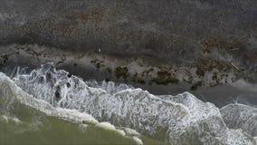 Vista superiore del mare e della costa intorno al bello paesaggio archivi video
