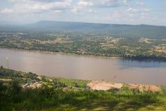 Vista superiore del Mekong in Tailandia Immagini Stock Libere da Diritti