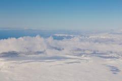 Vista superiore del paesaggio naturale di inverno Fotografie Stock Libere da Diritti