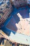 Vista superiore del quadrato principale di Siena Fotografia Stock