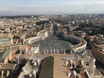 Vista superiore del quadrato del Vaticano da Roma fotografia stock libera da diritti