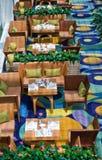 Vista superiore del ristorante Immagini Stock