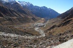 Vista superiore del tempiale di Kedarnath. Immagine Stock