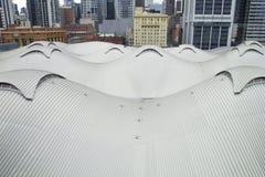 Vista superiore del tetto del tipo di duna della stazione in Docklands, Melbourne dell'incrocio del sud Immagini Stock Libere da Diritti