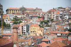 Vista superiore del tetto di Oporto Fotografie Stock Libere da Diritti