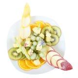 Vista superiore del vaso della frutta Fotografie Stock Libere da Diritti