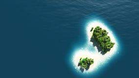 Vista superiore dell'isola di estate Fotografie Stock Libere da Diritti
