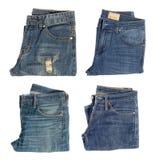 Vista superiore dell'jeans piegati Immagini Stock