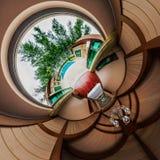 Vista superiore della camera da letto interna Fotografia Stock