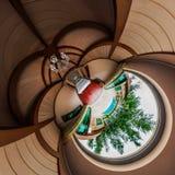 Vista superiore della camera da letto interna Fotografia Stock Libera da Diritti