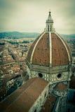 Vista superiore della cattedrale del Duomo a Firenze, Italia Fotografia Stock Libera da Diritti