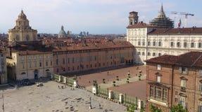 Vista superiore della città Fotografia Stock