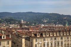 Vista superiore della città Immagine Stock
