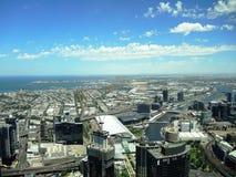 Vista superiore della città dalla torre più alta di Melbourne Fotografia Stock