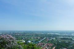 Vista superiore della città della provincia di Nakhon Sawan, Tailandia Immagini Stock