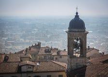 Vista superiore della città e dei tetti di Bergamo Fotografie Stock Libere da Diritti