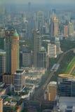 Vista superiore della città moderna Immagine Stock