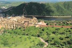 Vista superiore della fortificazione ambrata. Fotografia Stock
