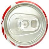 Vista superiore della latta di soda Fotografia Stock Libera da Diritti