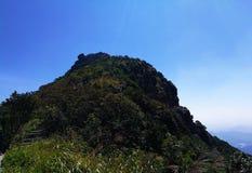 Vista superiore della montagna di mattina fotografie stock