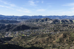 Vista superiore della montagna di Thousand Oaks California Immagini Stock