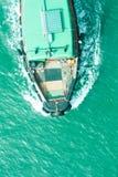 Vista superiore della nave fotografia stock libera da diritti
