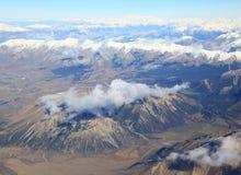 Vista superiore della Nuova Zelanda Immagini Stock