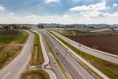 Vista superiore della pista ciclabile, strada della bicicletta Fotografia Stock Libera da Diritti
