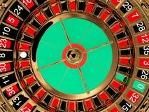 Vista superiore della rotella di roulette del casinò Immagini Stock