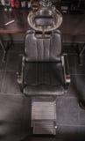 Vista superiore della sedia per un taglio di capelli Immagini Stock Libere da Diritti