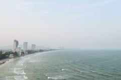 Vista superiore della spiaggia di Hua Hin Fotografia Stock Libera da Diritti