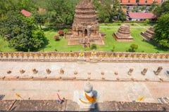 Vista superiore della statua di Buddha Fotografia Stock