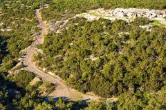 Vista superiore della strada Fotografia Stock Libera da Diritti