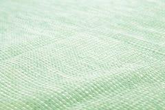 Vista superiore della superficie del tessuto del panno verde Fotografie Stock Libere da Diritti