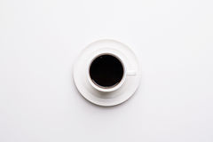 Vista superiore della tazza di caffè Fotografia Stock