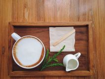 Vista superiore della tazza di Coffeecup Fotografie Stock