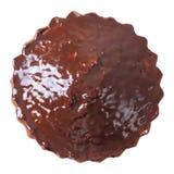 Vista superiore della torta lustrata Immagini Stock