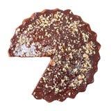 Vista superiore della torta lustrata e spruzzata senza un pezzo Fotografie Stock Libere da Diritti