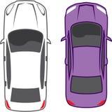 Vista superiore delle automobili royalty illustrazione gratis