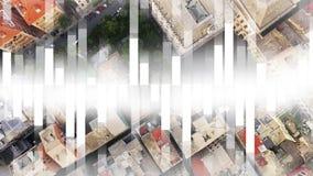Vista superiore delle costruzioni della citt? archivi video