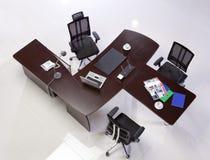 Vista superiore delle forniture di ufficio Fotografia Stock