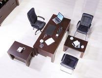 Vista superiore delle forniture di ufficio Immagine Stock